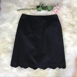 Laura Ashley Black Scalloped Skirt, Size 10